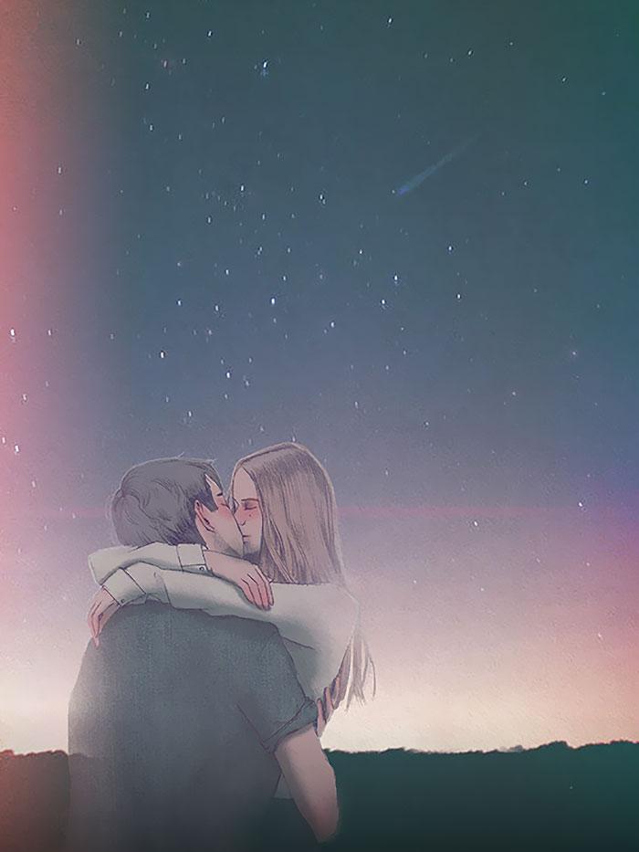 Najlepši trenuci zajedničkog života parova: Ilustracije iz kojih isijava ljubav