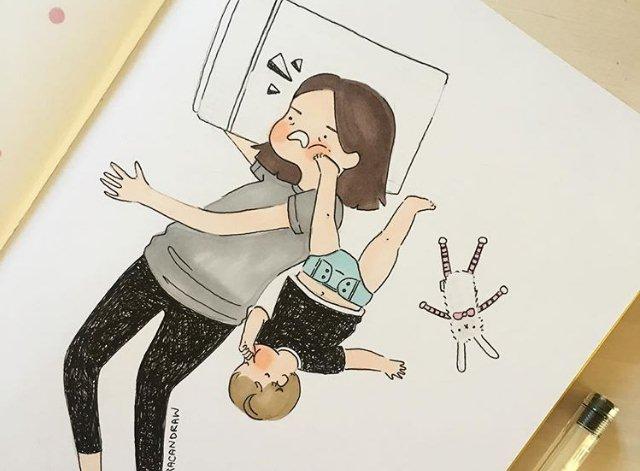 Ilustracije koje verno pokazuju kroz koje muke mame prolaze svaki dan