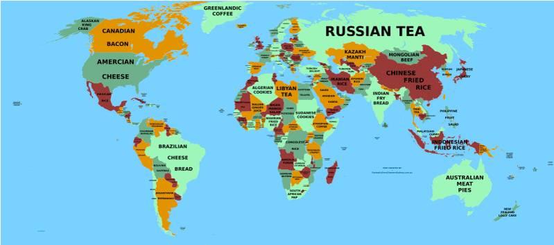 Najukusnija mapa sveta: Nećete pogoditi koje je omiljeno jelo Srba!