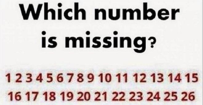 Što ste stariji biće vam teže da odgovorite na ovu mozgalicu. Vidite li koji broj fali?