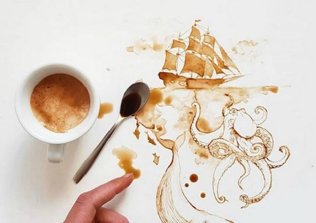 Vi samo pijete kafu, a ona od nje pravi remek dela od kojih zastaje dah! Dajemo vam 15 dokaza za to!