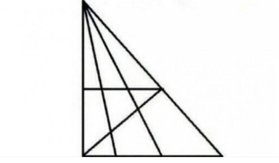 Koliko ima trouglova na slici? Ako vidite više od 18, IQ vam je iznad 120!