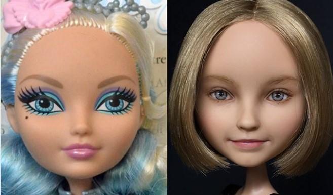 """Umetnica """"skida šminku"""" lutkama i pretvara ih u obične ljude"""