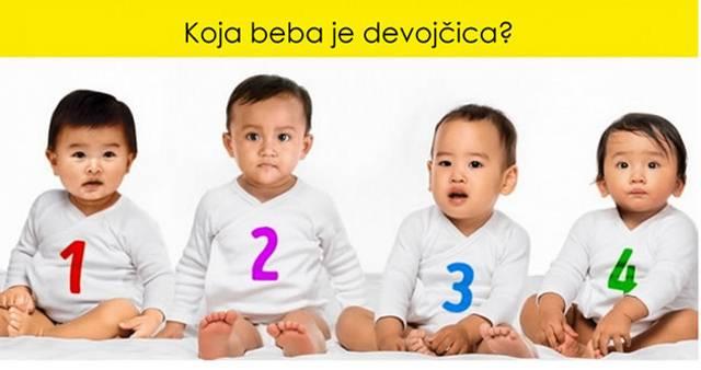 U 40% slučajeva odrasla osoba ne može da pogodi pol bebe