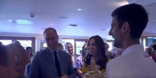 Nakon titule na Vimbldonu, Novak se susreo sa Kejt i Vilijamom