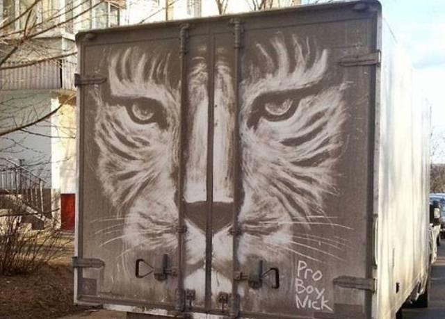 Ruski umetnik stvara remek-dela na vozilima