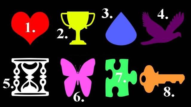 Na slici je 8 simbola, izaberite onaj koji vas najviše privlači i otključajte tajne svoje podsvesti