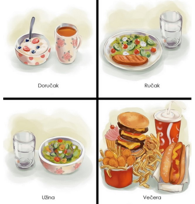 Ilustracije koje će razumeti samo oni na dijeti