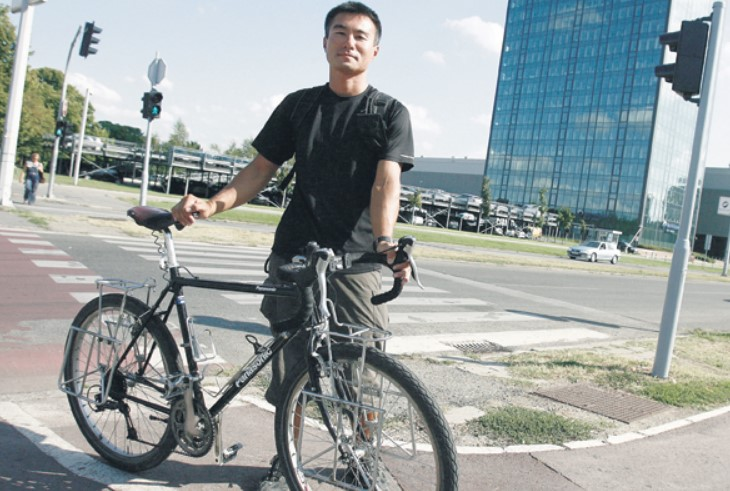 Japanac kojem je ukraden bicikl posle šest godina ponovo u Beogradu
