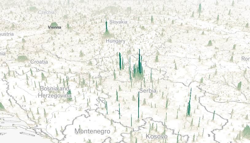 Interaktivna Mapa Srbije Pokazuje Raspored Stanovnista
