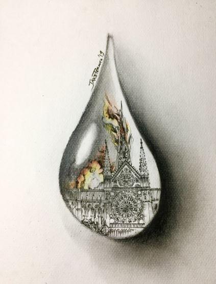 Reakcija umetnika širom sveta na požar u Notr Damu