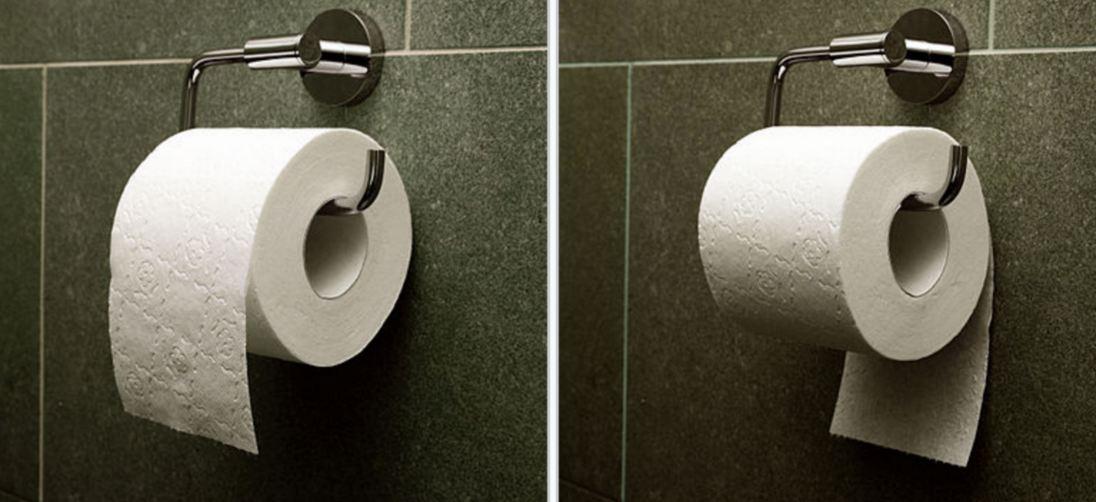 Rešena večita dilema – kako se pravilno drži toalet papir?