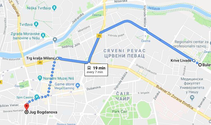 Google Maps uveo linije gradskog prevoza i u Srbiji!
