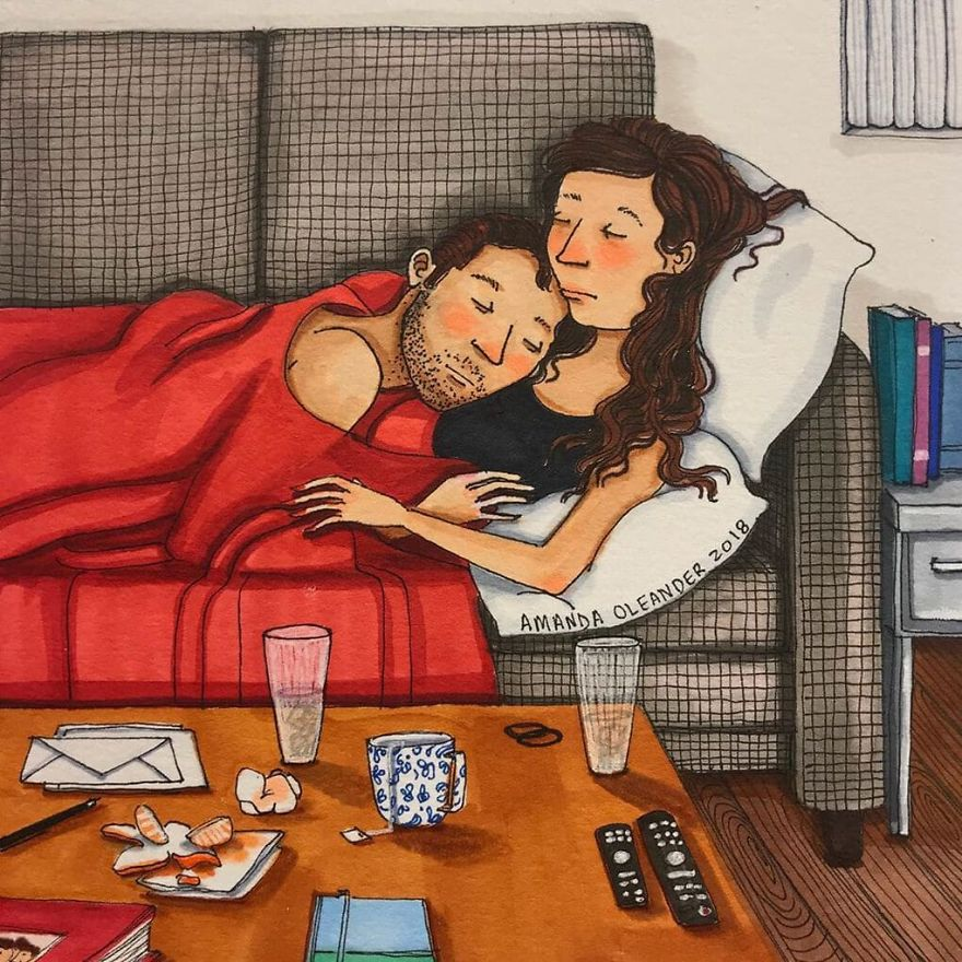 Ilustracije koje će vam pokazati kako izgleda život u paru
