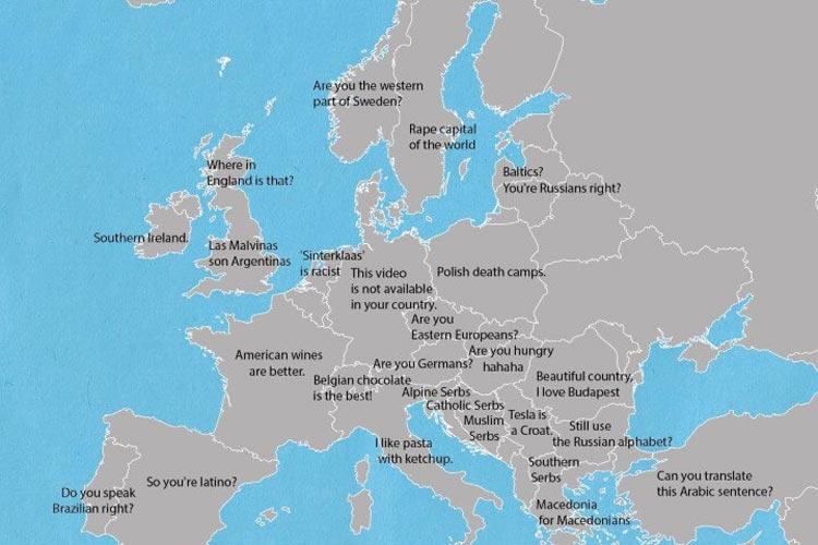 Ova Mapa Uvreda Pokazuje Kako Iznervirati Narode Evrope
