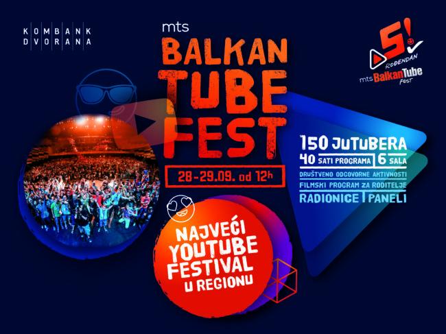 Proslavi 5. rođendan Balkan Tube Festa sa150 najvećih Youtube zvezda regiona