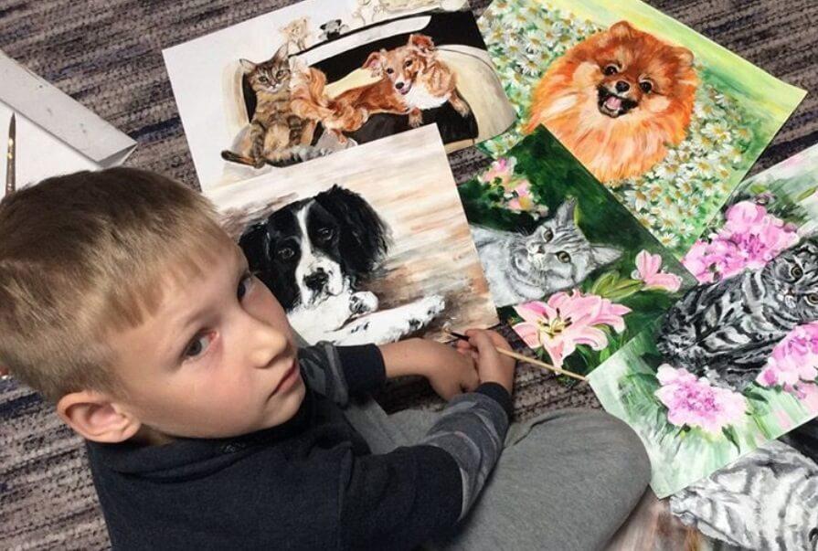 Devetogodišnjak prodaje slike u zamenu za pomoć životinjama
