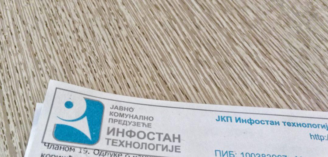 Račun za Infostan biće uvećan zbog još jedne usluge
