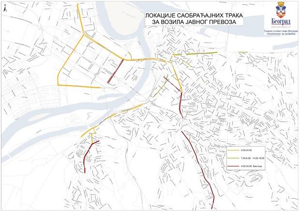 Evo gde su sve žute trake u Beogradu