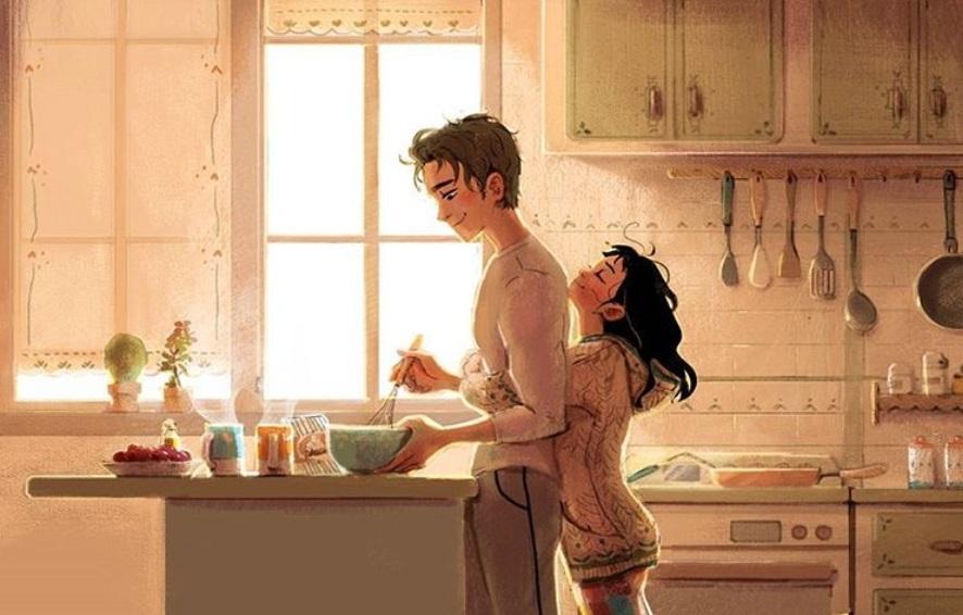 Ilustracije koje prikazuju male slatke stvari koje rade svi parovi