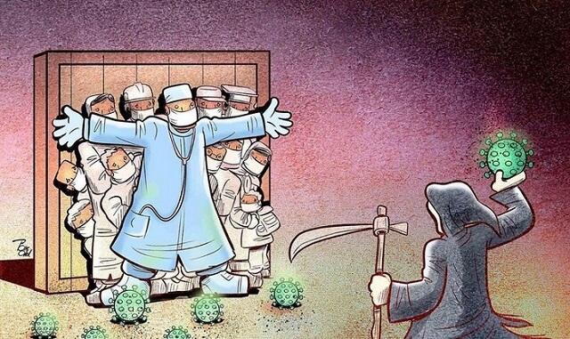 Ilustracije koje pokazuju kako je to biti doktor u vreme korone