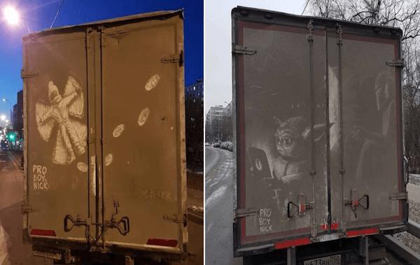 Umetnička dela na prašnjavim kamionima