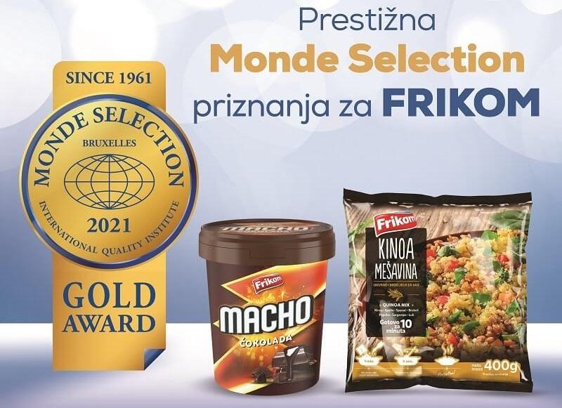 Dve zlatne medalje za Frikom – Prestižna Monde Selection priznanja za vrhunski kvalitet proizvoda