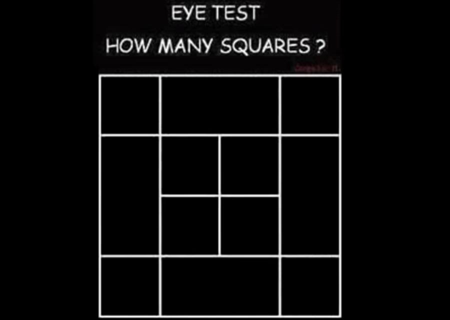 Ova mozgalica je zbunila mnoge – Koliko kvadrata je na fotografiji?