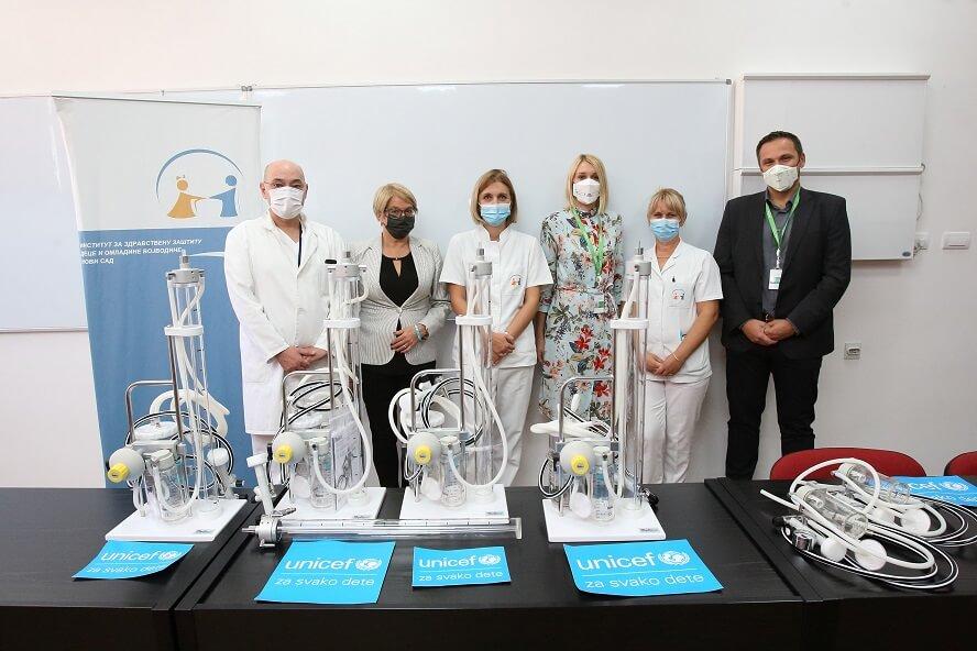 Institut za zdravstvenu zaštitu dece i omladine Vojvodina dobio 5 aspiratora i sisteme za  torakalnu drenažu  od UNICEF-a