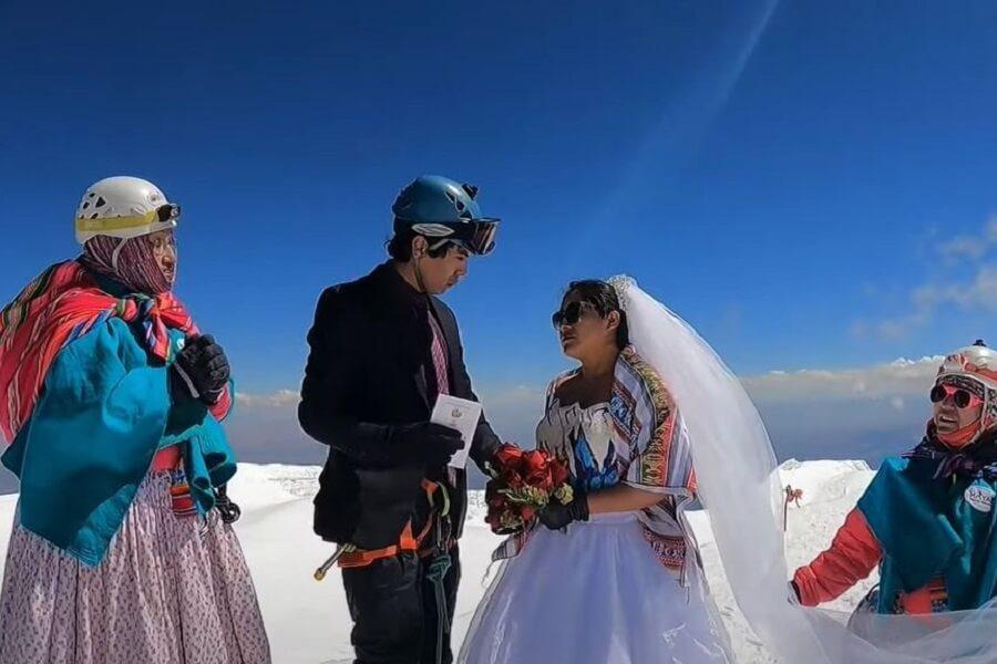 Venčanje iz snova – Mladi par se venčao na velikoj nadmorskoj visini!